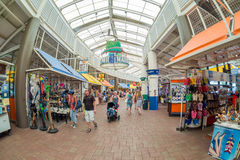 The Bayside Marketplace in Miami. MIAMI,USA - AUGUST 5,2015 : Shoppers at the Bayside Marketplace  in Miami Stock Images