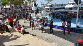 Bayside Miami  ( dancing ) Stock Photos