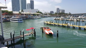 Bayside Miami. This is a photo that shows how nice, colorful, and joyful Miami is. It shows how you can enjoy  Bayside in Miami Stock Image