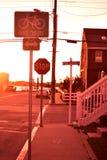 Bayside solnedgång Royaltyfri Foto