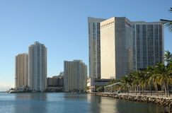Bayside view of Downtown Miami Royalty Free Stock Photo