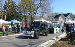 Baystars parade float stock photo