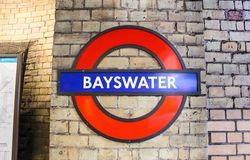 The signage of Bayswater royalty free stock image