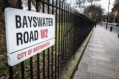 Bayswater Road Stock Photo