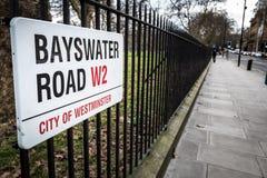 Bayswater-Straße Stockfoto