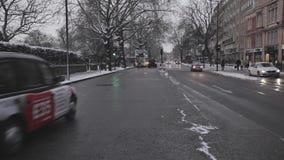 Bayswater-Straßen-Winter London stock video footage