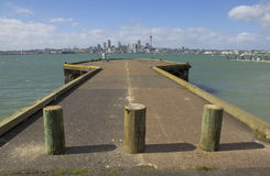 Bayswater Wharf Fishing Spot Auckland New Zealand Stock Photo