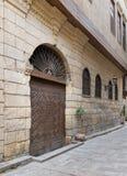 Bayt AlSuhaymi,历史的老房子,开罗,埃及门面  免版税库存图片
