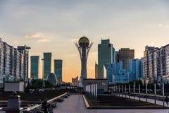 Bayterek塔在阿斯塔纳哈萨克斯坦 图库摄影