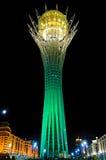 Bayterek纪念碑在阿斯塔纳,卡扎克斯坦 免版税库存图片