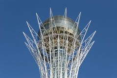 Bayterek. Is a monument and observation tower in Astana, Kazakhstan. The shape of  represents a poplar tree holding a golden egg Royalty Free Stock Images