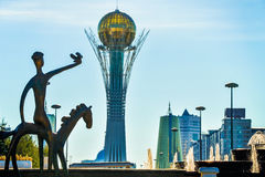 Bayterek is a monument and observation tower in Astana Stock Photography