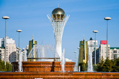 Bayterek is a monument and observation tower in Astana Stock Photo