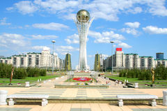 Bayterek Tower in Astana Royalty Free Stock Photo