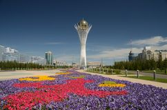 Bayterek Tower in Astana Royalty Free Stock Photography