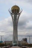 Bayterek-Turm Astana - sehen Sie fron der Norden an stockfotografie
