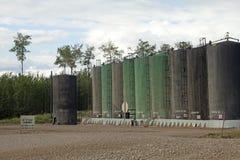 Baytex沥清坦克,亚伯大,加拿大 库存图片