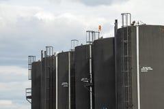 Baytex Bitumen tanks, Alberta, Canada Stock Image
