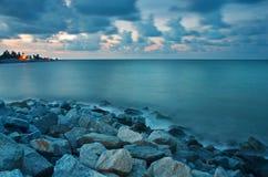 Bayu Sabak strand Royaltyfria Bilder