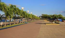 Baywalk av den Puerto Princesa staden Palawan ö Royaltyfria Foton