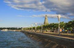 Baywalk av den Puerto Princesa staden Palawan ö Arkivbilder