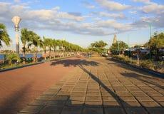 Baywalk av den Puerto Princesa staden Palawan ö Arkivfoto