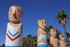 Baywalk Bollards sculptures in Geelong Melbourne Victoria Australia royalty free stock image