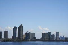 baywalk miasta Manila Philippines linia horyzontu Zdjęcia Royalty Free