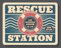 Baywatch, σταθμός διάσωσης, διογκώσιμος lifebuoy ελεύθερη απεικόνιση δικαιώματος