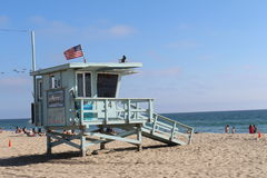 Baywatch на пляже Санта-Моника Стоковая Фотография RF