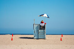 Baywatch. Blue sky, in the middle of the day Royalty Free Stock Images