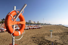 Baywatch. Rescue circle on beach in Lignano (Italy Royalty Free Stock Images