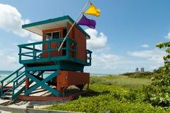 Baywatch alla spiaggia di Miame Immagine Stock Libera da Diritti