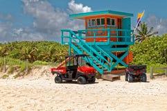 Baywatch alla spiaggia di Miame Fotografia Stock Libera da Diritti