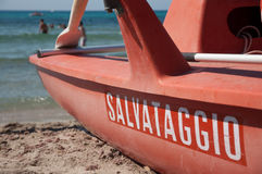 Baywatch boat Stock Photography