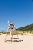 Baywatch chair in a beautiful beach Stock Photos