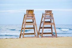 Baywatch chairs Stock Image