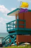 Baywatch en la playa de Miame Imágenes de archivo libres de regalías