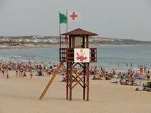 Baywatch en las playas de Andalucía imagen de archivo libre de regalías