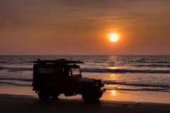 Baywatch in golden hour stock image
