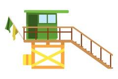 Baywatch house flat icon. Cartoon Vector illustration.  Stock Photos