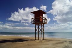 Baywatch lifeguard stand Royalty Free Stock Images