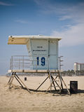 Baywatch Lifeguard Tower. Lifeguard Tower at Huntington Beach, California Stock Photo