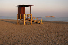 Baywatch on mediterranean sea Stock Photography