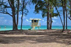 Baywatch in Oahu, Hawai Immagini Stock Libere da Diritti
