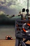 Baywatch-Panik Lizenzfreies Stockfoto