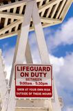 Lifeguard chair at a beautiful beach during summer day. Montego Bay, Jamaica. Baywatch rescue service. Lifeguard chair at a beautiful beach during summer day Stock Image