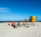 Baywatch Station at the Beach in South Beach Miami Florida Royalty Free Stock Images