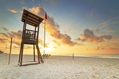Baywatch sur la mer des Caraïbes Photographie stock libre de droits