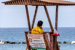 Baywatch Tenerife Spanien Fotografering för Bildbyråer
